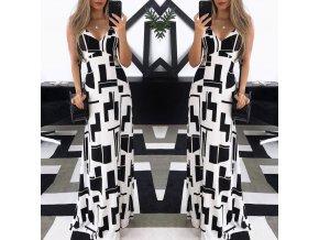 Dámské dlouhé luxusní plesové společenské šaty NEW