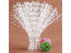 Dekorace-perličky na drátku k tvoření dekorací-podzimní,vánoční, svatební tvoření-10ks/set-více variant