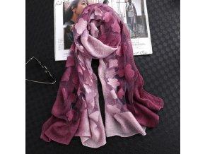 Pro ženy-dámský dvoubarevný šátek s květinovým vzorem-elegantní doplněk pro ženu-více barevných variant-skvělý tip na dárek-