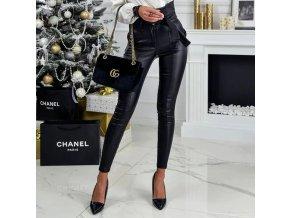 TOP černé dámské kalhoty s vázáním NOVINKA