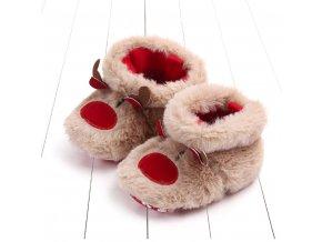 Dětské boty- vánoční teplé capáčky pro nejmenší Sob
