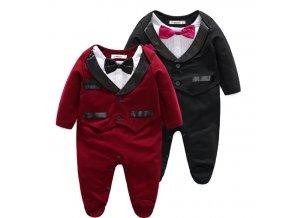 Krásný sváteční overal pro děti- černý, červený
