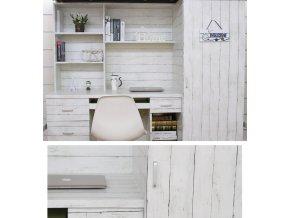 Tapety na plochu- samolepící tapeta v provence stylu na zeď nebo nábytek s motivem bílého dřeva