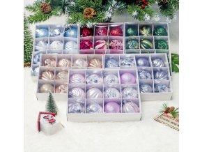Vánoční dekorace, ozdoby- Sada krásných vánočních koulí- 12ks
