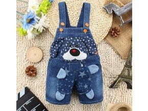 Dětské oblečení- dětské kalhoty lacláče s pejskem- Pro děti