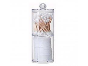 Koupelna- dóza na kosmetické tampony, kombinovaný kosmetický organizér 2ks