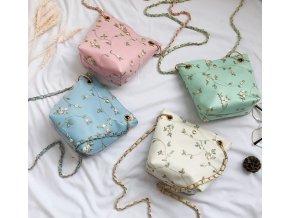 Dámský kabelky- Luxusní dámská kabelka přes rameno s květy - Dárky pro ženy