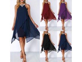 Dámské elegantní společenské letní šaty pro plnoštíhlé až 3XL