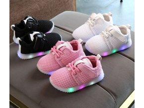 Dětské boty- LED svítící boty pro chlapce a dívky