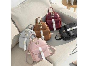 Pro ženy-Dámský stylový batoh s mašličkou- Dárky pro ženy a dívky