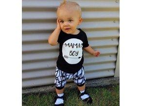 Dětský set kraťasy a tričko s potiskem pro chlapce- Oblečení pro chlapce