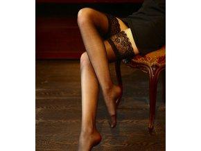 Luxusní dámské nadkolenky s krajkou