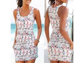 Dámské letní pohodlné šaty až 2XL