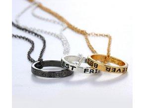 Dárky- 3 ks set řetízek s přívěskem Best Friends Forever- Přátele