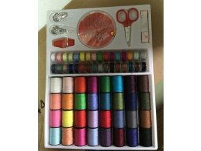 Sada barevných špulky nití pro šití a vyšívání 64ks- Výprodej