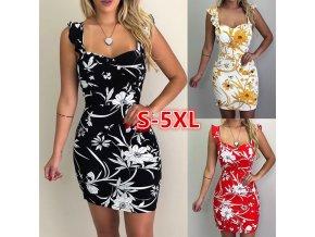 Dámské letní plážové šaty s květinami pro plnoštíhlé až 5XL NEW
