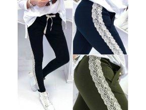 Dámský stylový pohodlný kalhoty s krajkou více barev