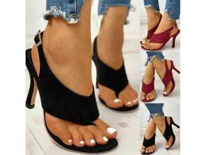 Dámské boty- Luxusní dámské sandály na podpatku dvě barvy AKCE