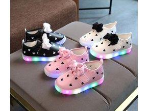Dětské boty- LED svítící boty pro dívky NEW
