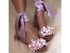 Dámské boty- Luxusní dámský letní vázací sandály více barev
