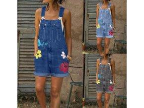Laclové kraťasy - dámské kraťasy s květy až 3XL