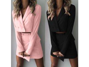 Luxusní dámský letni set sukně a sako AKCE