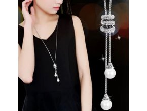 Pro ženy- dlouhý luxusní řetízek s příveškem s perlou - Dárky pro ženy