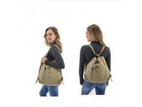 Dámské kabelky - 2v1 kabelka+batoh - cestovní taška - více barev