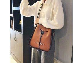 Dámská kabelka - modní kabelka se stahovacími šňůrami - dárek pro ženy