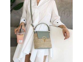 Dámská kabelka - slaměná kabelka - dárek pro ženu - výprodej skladu