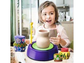 Děti - hračky pro děti - kreativita - hrnčířství - dětský hrnčířský přístroj - výprodej skladu