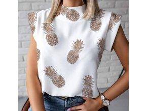 Dámské oblečení - dámská trička - trička s potiskem - dámské halenky - tričko s potiskem ananasu - ananas