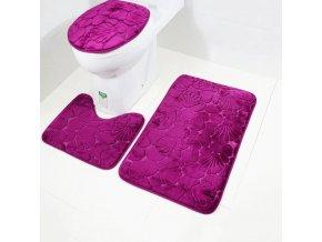 Koupelna - záchod - růže - koupelnové předložky - koupelnové předložky set s 3D vzorem mušlí