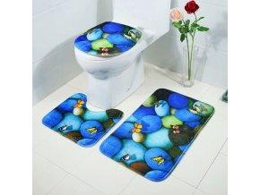 Koupelna - záchod - motýl -  koupelnová předložka - koupelnové předložky set - předložky s potiskem motýlů