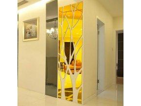 Zrcadlo - dekorace - strom - nástěnné nalepovací zrcadlo ve tvaru stromu - nástěnné dekorace