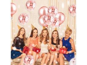 balonky - nafukovací balonky - párty - narozeniny - svatba - krásné nafukovací balonky v sadě s třpytkami