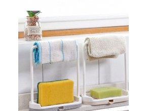 Koupelna - kuchyň - mytí nádobí - houbičky - odkapávač na houbičky na nádobí