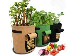 Sázení - zahradní pěstování - pěstování brambor - pěstování rajčete - pěstovací květináč - pěstovací pytel ve velikosti S