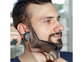 Muži - holení - barber - tvarovací šablona pro holení - úprava vousů