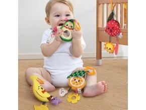 Děti - miminko - chrastítko - závěsný set chrastítek ovoce - ovoce