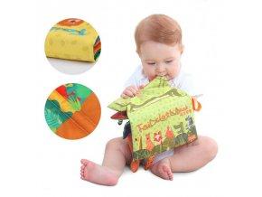 Děti - hračky pro děti - hračky pro novorozence - látková kniha na hraní - knížka - dětská knížka - vánoční dárek