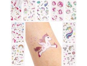 Jednorožec - tetování - tetování na ruku - dětské tetování s motivy jednorožce - dočasné tetování - dekorace