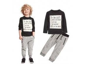 Oblečení - dětské oblečení - chlapecká tepláková souprava s potiskem na mikině - mikina - tepláky - dárek pro chlapce