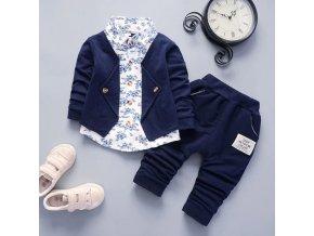 Dětské oblečení - oblečení pro chlapce - chlapecký oblek sako + košile + kalhoty - vánoční dárek