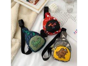 batohy - dětský batoh - dětský batoh přes rameno s potiskem dinosaura - dinosauři - dárek pro děti