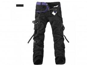 Pánské černé kalhoty kapsáče