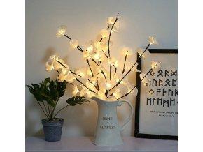 vánoční dekorace - dekorace - světelná dekorace - dekorace do vázy svítící květiny - kytky