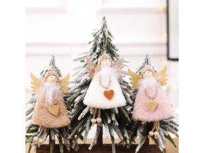 vánoční dekorace - dekorace - vánoční ozdoby - anděl - andělka - krásná vánoční ozdoba anděla na stromeček - vánoční dárek