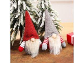 vánoční dekorace - dekorace - vánoční ozdoby - skřítek - vánoční závěsný skřítek na stromeček  - dárek k vánocům - výprodej skladu