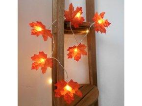 Podzim - podzimní dekorace - světelný řetěz - světelný podzimní řetěz javorového listu 1,5 m dlouhý - javor